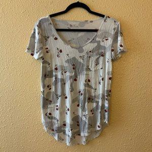 Hollister Floral Camo T Shirt